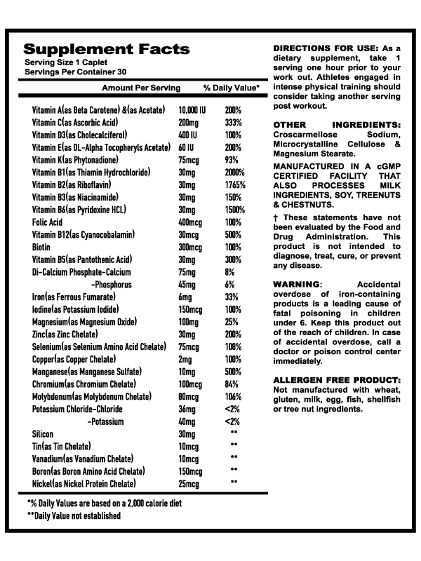 Comprehensive Chelated Multivitamin & Mineral Formula